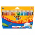 Flamastry BIC KID COULEUR, 24 kolory