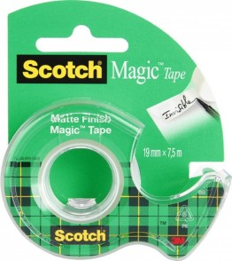 Taśma przezroczysta Scotch Magic z dyspenserem, 19mm x 7,5m